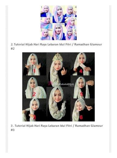 30 Tutorial Hijab Hari Raya Lebaran Idul Fitri Ramadhan Terbaru 2016 Pdf Document