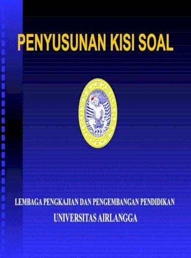 Penyusanan Soal Cpns Lembaga Pengkajian Dan Pengembangan Pendidikan Universitas Pdf Document