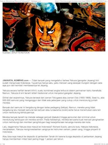 Yakuza Menyerang Ekonomi Indonesia Shutterstock Jakarta Tidak Banyak Yang Mengetahui Pdf Document