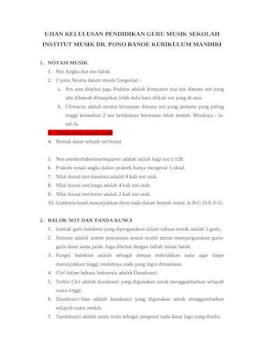 Ujian Kelulusan Pendidikan Guru Musik Sekolah Fix Docx Document
