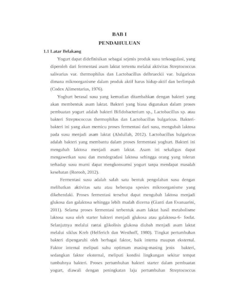 Laporan Pembuatan Yogurt Docx Document