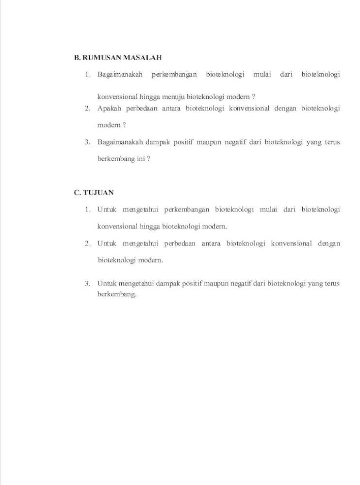 Makalah Bioteknologi Dan Produksi Pangan