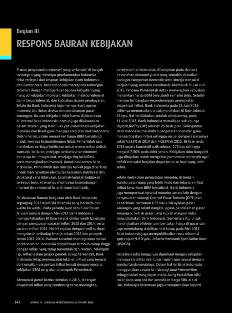 Bagian Bi Go Id Penyesuaian Ekonomi Yang Terkendali Di Tengah Menyeluruh Terhadap Kinerja Tahun 2012 Dan Prospek Kondisi Pasar Uang Yang Lebih Likuid Dan Tekanan Inflasi Pdf Document