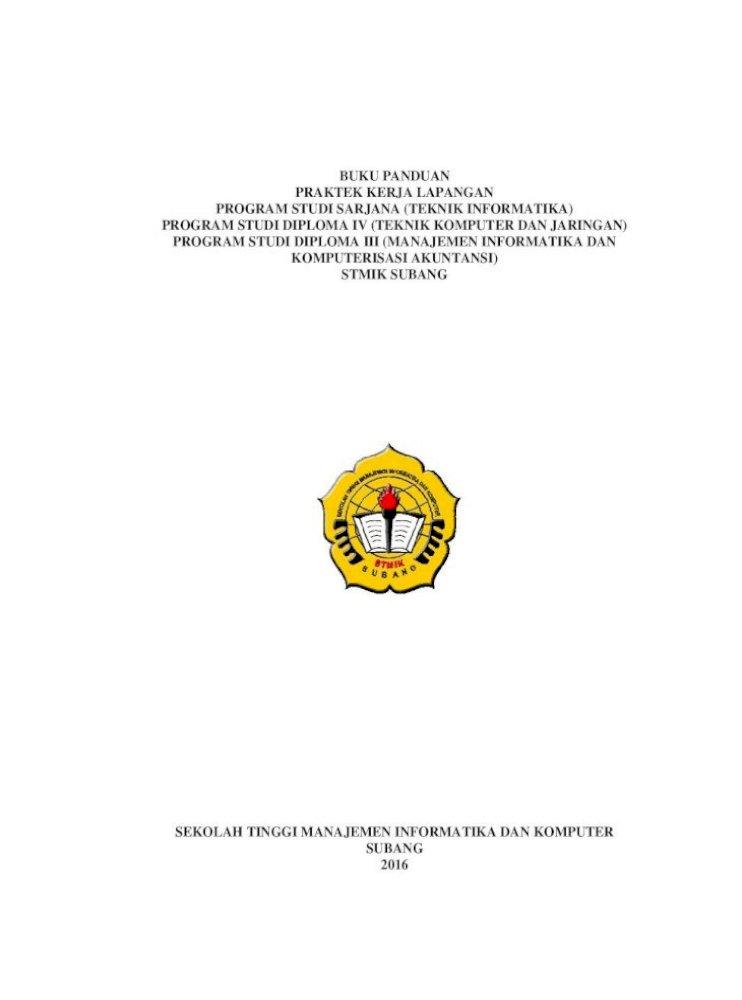 Buku Panduan Praktek Kerja Lapangan Program Laporan Pkl 2016 Pdfbuku Panduan Praktek Kerja Lapangan Pdf Document