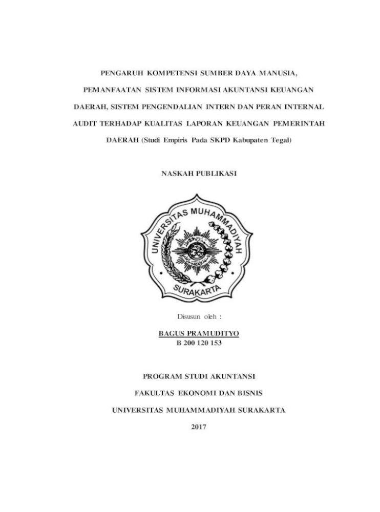 Pengaruh Kompetensi Sumber Daya Manusia Akuntansi Sumber Daya Manusia Adalah Faktor Pdf Document