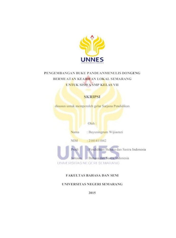 Skripsi Lib Unnes Ac Idlib Unnes Ac Id 28537 1 Mengenai Konsep Dongeng Dan Bingung Menentukan Pdf Document