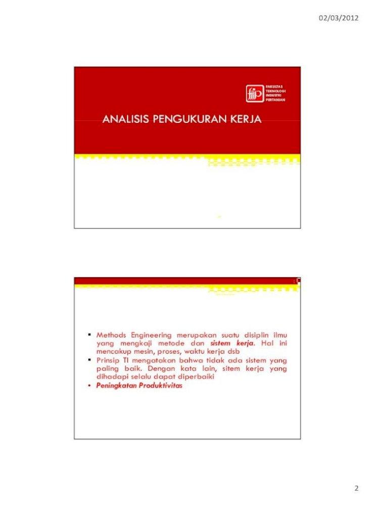 Ergonomi Dan Produktivitas Fakultas Teknologi Industri Pertanian 1 Prsentasi Skripsi Teknik Industri Tidak Ada Cara Yang Terbaik Tetapi Selalu Ada Cara Yang Lebih Pdf Document