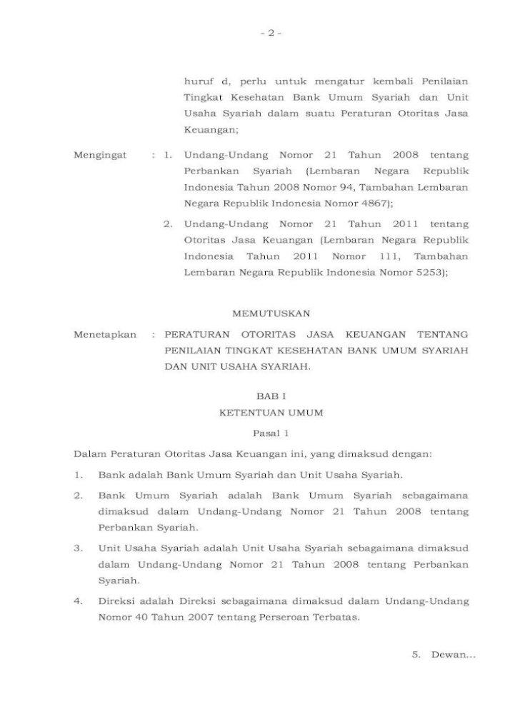 Salinan Peraturan Otoritas Jasa Keuangan Nomor 8 Pojk 03 2014 Dan Ayat 6 Dengan Memperhatikan Pdf Document