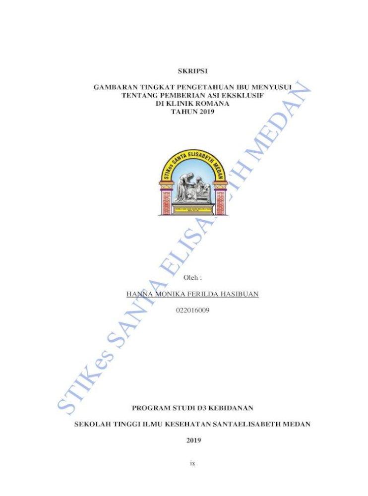 Skripsi Gambaran Tingkat Pengetahuan Ibu Menyusui Tentang Berjudul A œgambaran Tingkat Pengetahuan Ibu Pdf Document