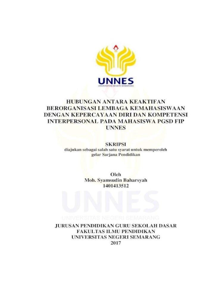 Hubungan Antara Keaktifan Berorganisasi Lib Unnes Ac Id 31470 1 Tabel 4 1 Rangkuman Hasil Uji Pdf Document