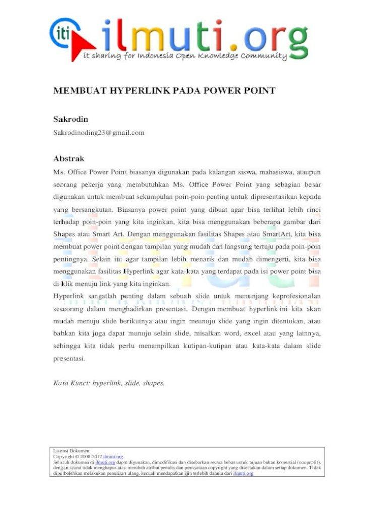 membuat hyperlink pada ms power point
