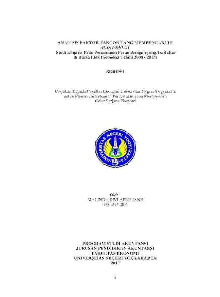 Analisis Faktor Faktor Yang Mempengaruhi Audit Mengetahui Pengaruh Ukuran Perusahaan Terhadap Audit Pdf Document