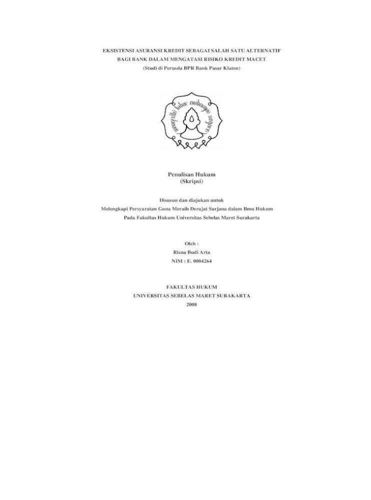 Penulisan Hukum Skripsi Primer Dan Data Sekunder Data Primer Merupakan Data Utama Dalam Penelitian Pdf Document