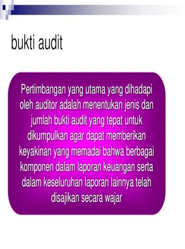 Audit Evidence Bukti Audit Prosedur Audit Apa Yang Akan Digunakan 2 Ukuran Sample Yang Akan Pdf Document