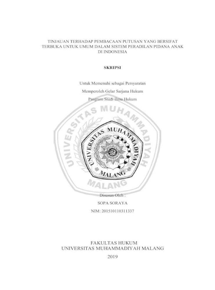 Fakultas Hukum Universitas 10 Seluruh Dosen Maupun Staf Fakultas Hukum Universitas Muhammadiyah Malang Pdf Document