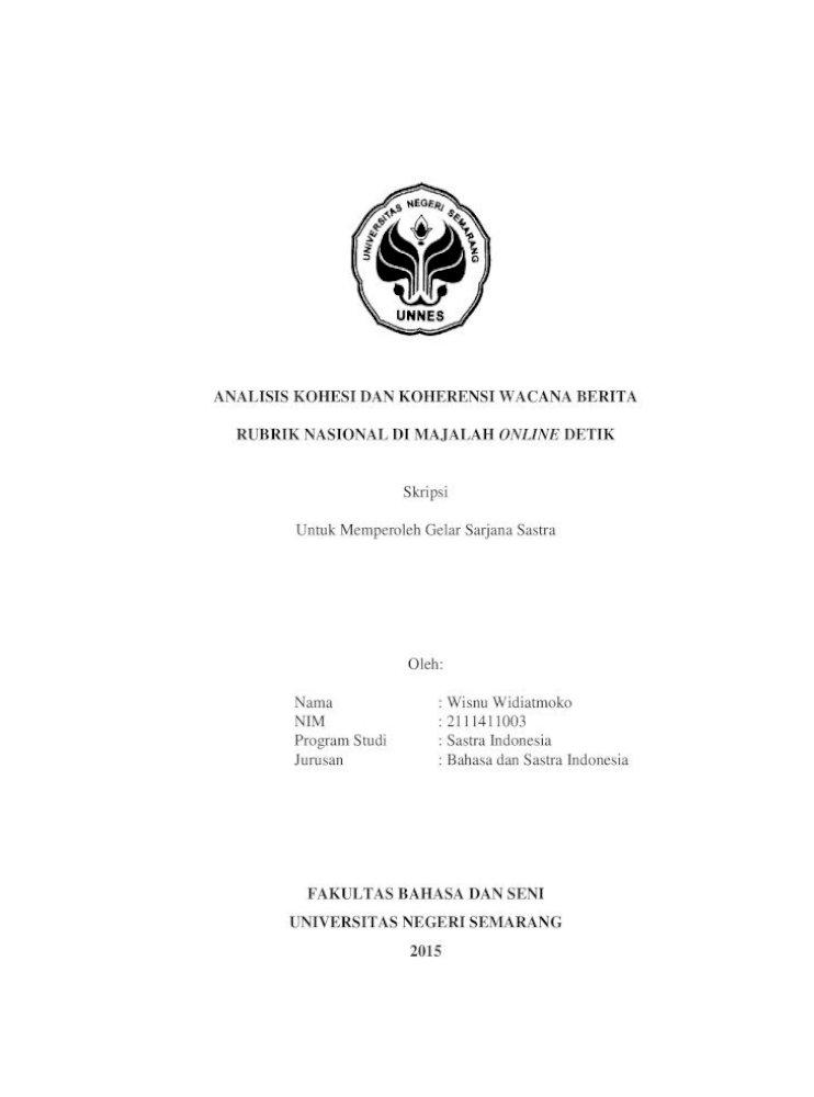 Analisis Wacana Berita Setya Novanto Pada Kasus Korupsi E Ktp Di Media Online Kompas Com Skripsi Repository Uin Raden Fatah Palembang