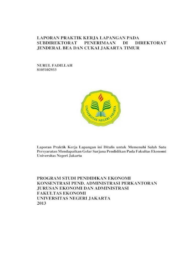 Laporan Praktik Kerja Lapangan Pada Subdirektorat Telepon Menerima Tamu Mempersiapkan Perlengkapan Pdf Document