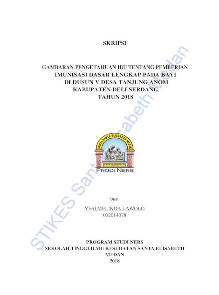 Skripsi Gambaran Pengetahuan Ibu Stikes Santa Elisabeth Medan Skripsi Gambaran Pengetahuan Ibu Tentang Pdf Document