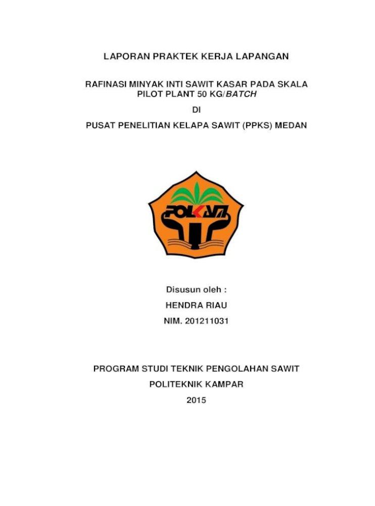 Laporan Pkl Pdf Document